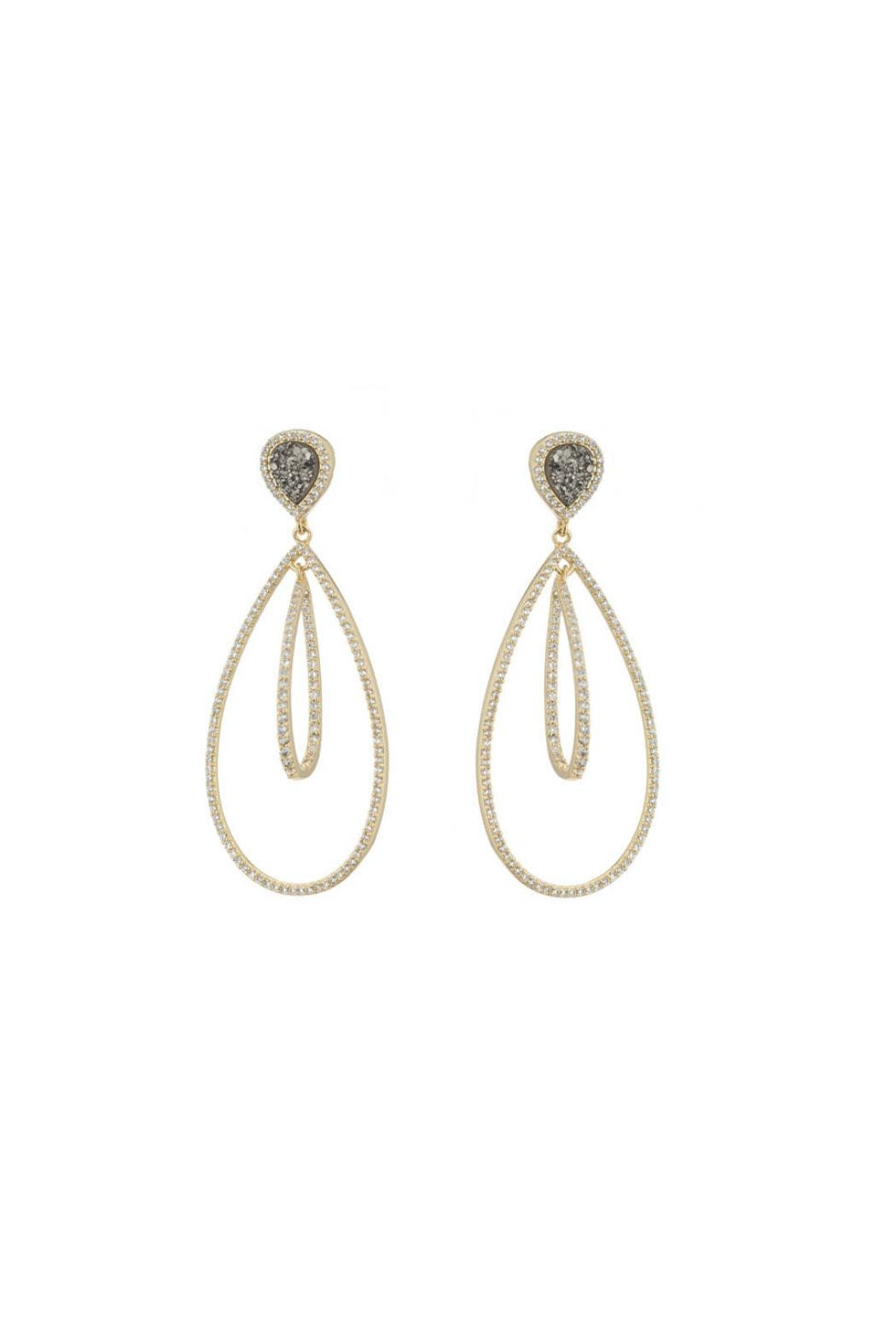 Gemma Collection Druzy Chandelier Earrings - Main Image