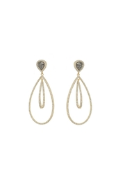 Gemma Collection Druzy Chandelier Earrings - Front cropped