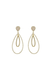 Gemma Collection Druzy Chandelier Earrings - Product Mini Image
