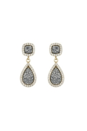 Gemma Collection Druzy Drop Earrings - Front cropped
