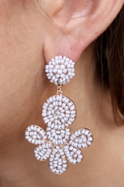 Gemma Collection Dupree Beaded Earrings - Front cropped