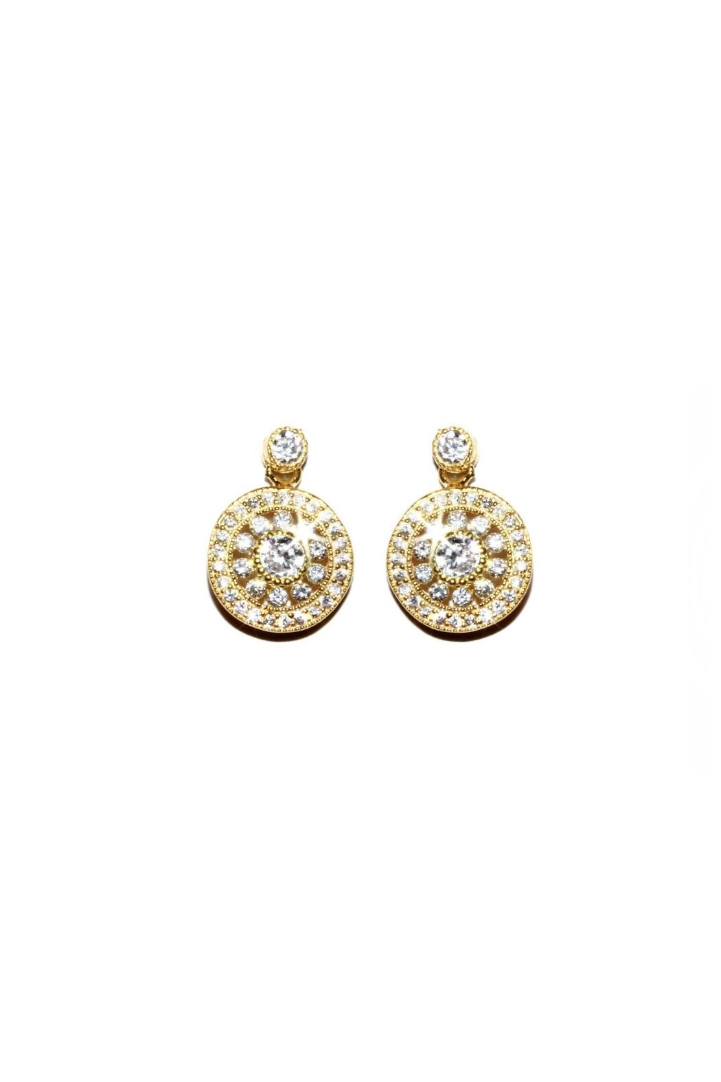 Gemma Collection Elegant Pave Earrings - Main Image