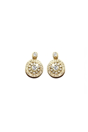 Gemma Collection Elegant Pave Earrings - Product Mini Image