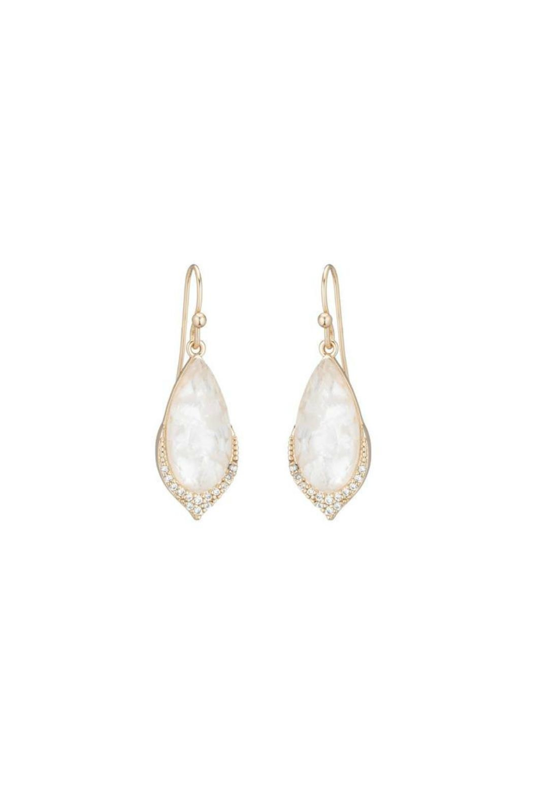 Gemma Collection Elegant Pave Earrings - Front Cropped Image