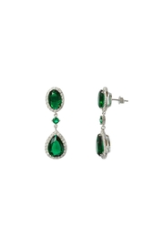 Gemma Collection Emerald Drop Earrings - Product Mini Image