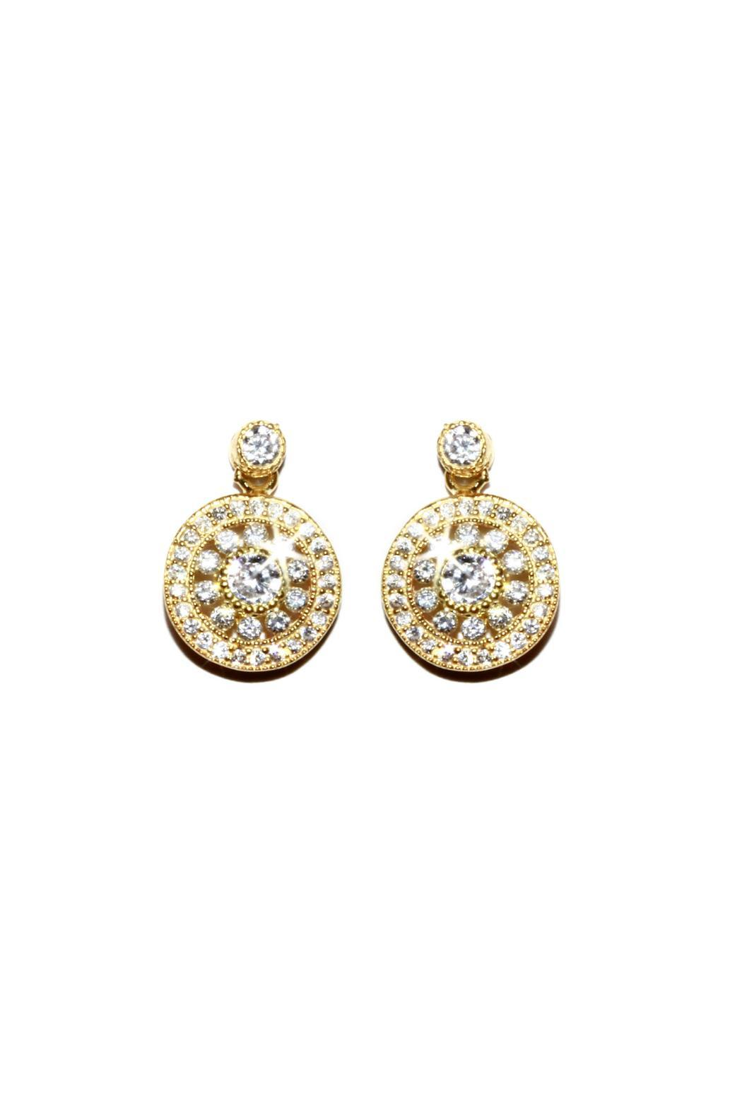 Gemma Collection Filigree Pave Earrings - Main Image