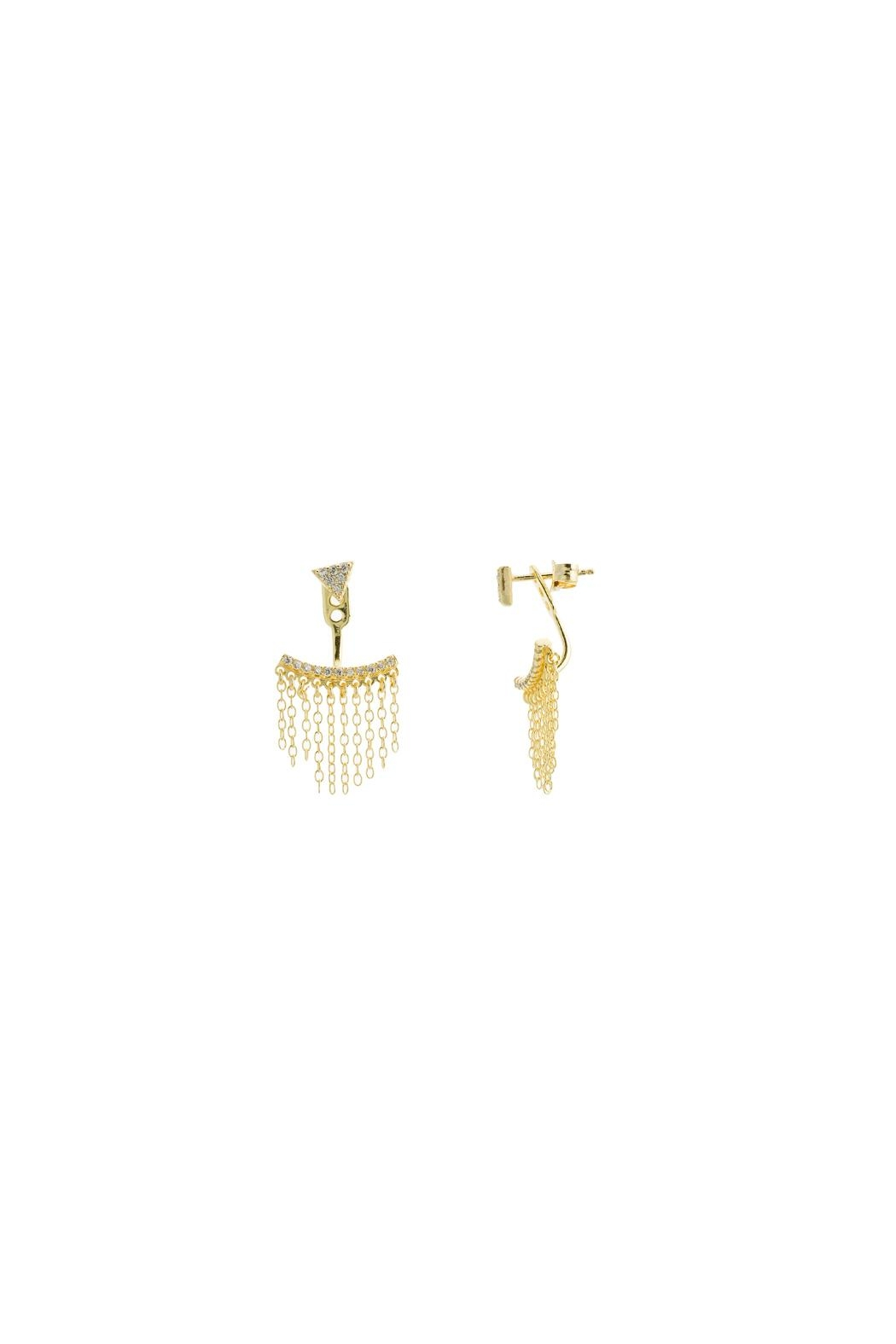 Gemma Collection Fringe Ear Jacket - Main Image