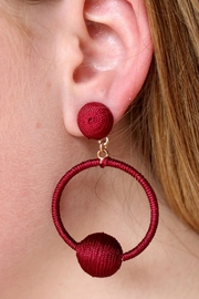 Gemma Collection Garnet Statement Earrings - Product Mini Image