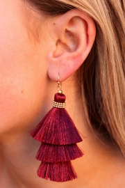 Gemma Collection Garnet Tassel Earrings - Product Mini Image