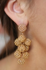 Gemma Collection Gold Ball Earrings - Product Mini Image