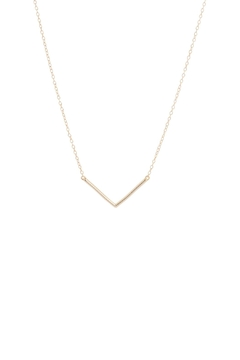 Shoptiques Product: Gold Chevron Necklace