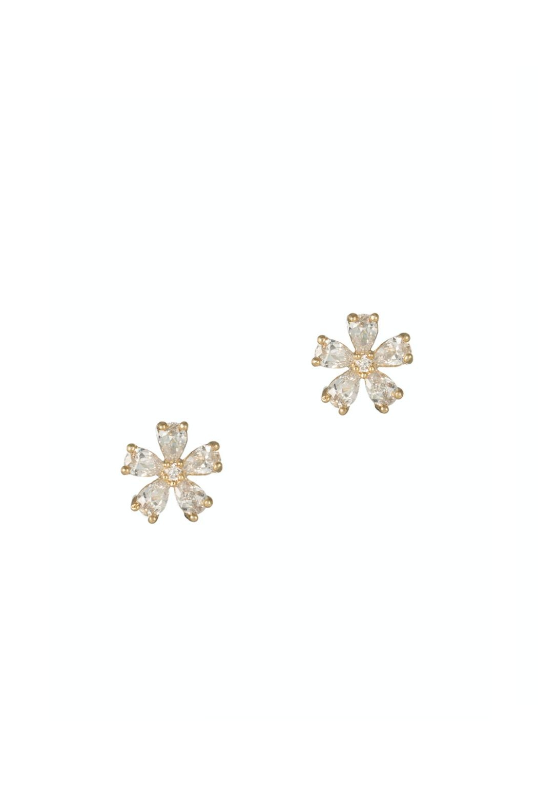 Gemma Collection Gold Flower Studs - Front Cropped Image