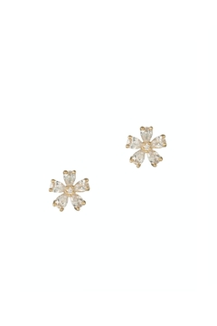 Gemma Collection Gold Flower Studs - Product List Image