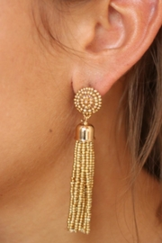 Gemma Collection Gold Tassel Earrings - Product Mini Image