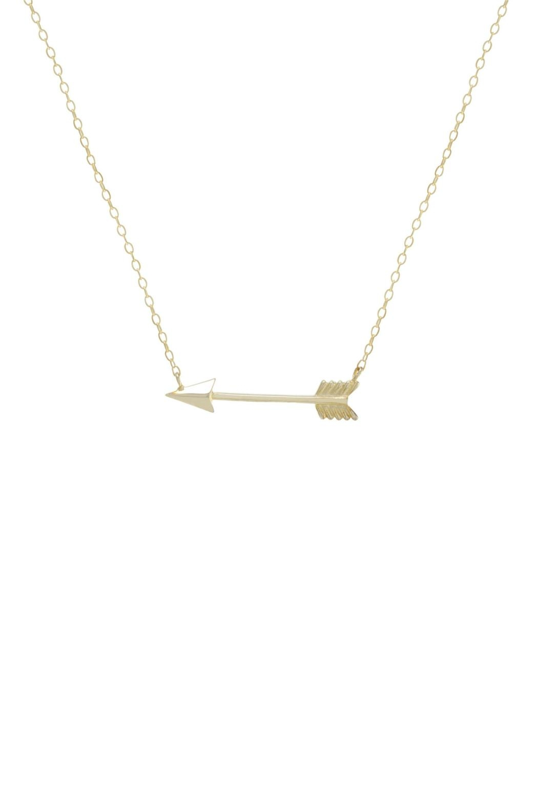 Gemma Collection Golden Arrow Necklace - Main Image