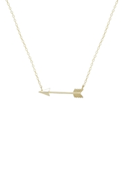 Gemma Collection Golden Arrow Necklace - Front cropped