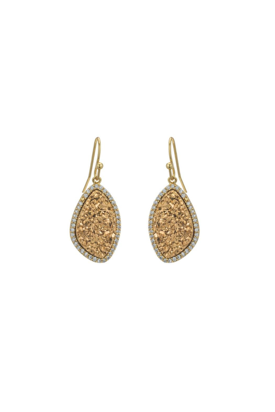Gemma Collection Golden Druzy Earrings - Main Image