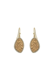 Gemma Collection Golden Druzy Earrings - Product Mini Image