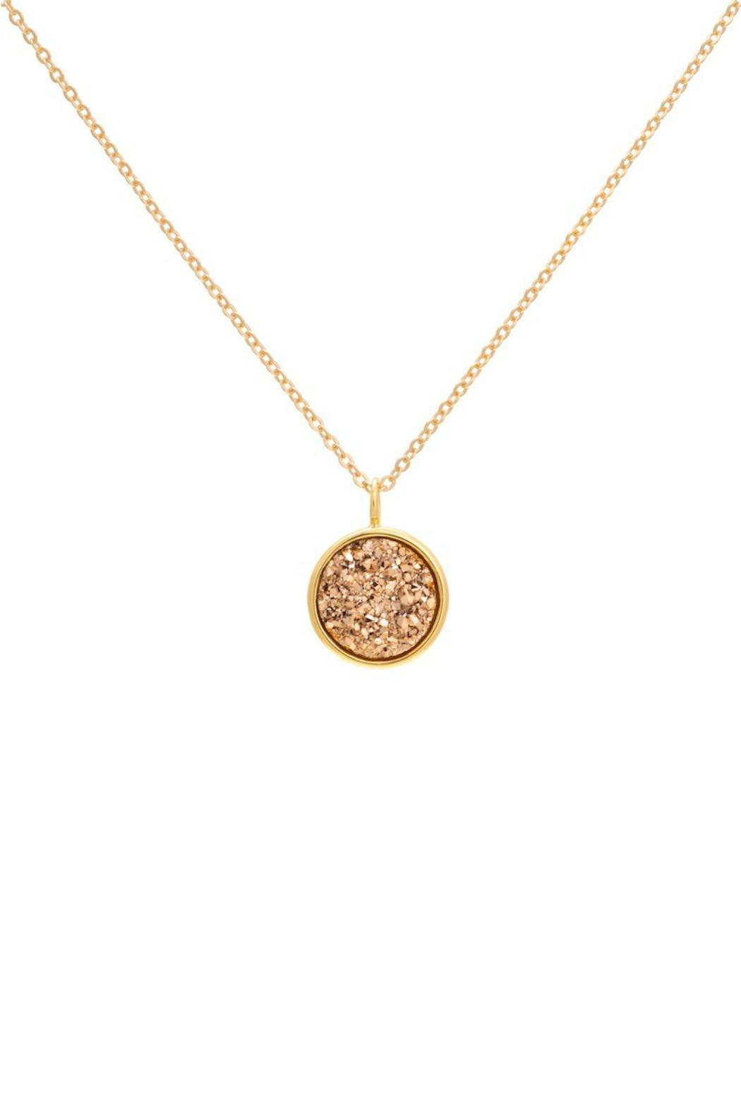 Gemma Collection Golden Druzy Necklace - Main Image