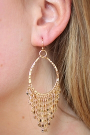 Gemma Collection Golden Fringe Earrings - Product Mini Image