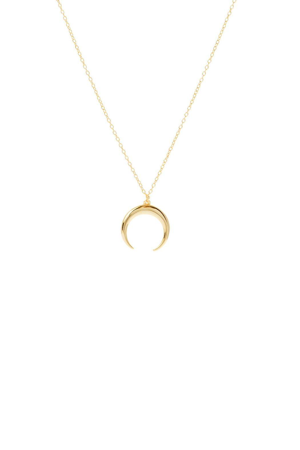 Gemma Collection Golden Horn Necklace - Front Cropped Image