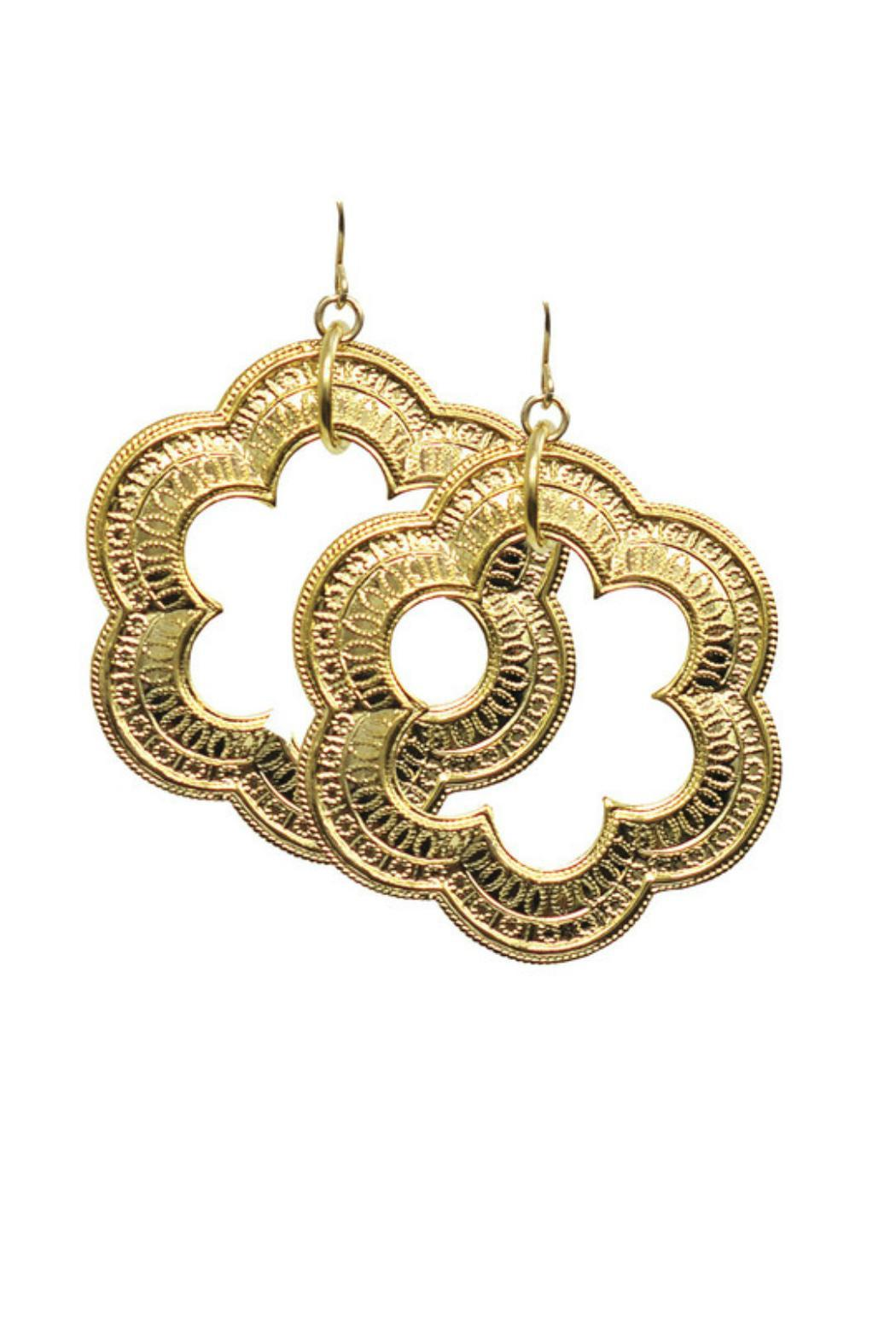 Gemma Collection Golden Moroccan Earrings - Main Image