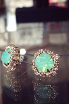 Shoptiques Product: Green Crystal Studs