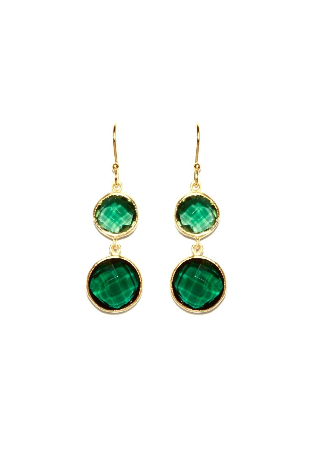 Gemma Collection Green Drop Earrings - Main Image