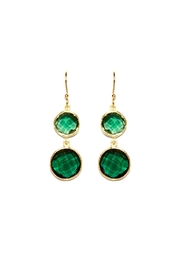 Gemma Collection Green Drop Earrings - Front cropped