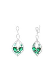 Gemma Collection Green Statement Earrings - Product Mini Image
