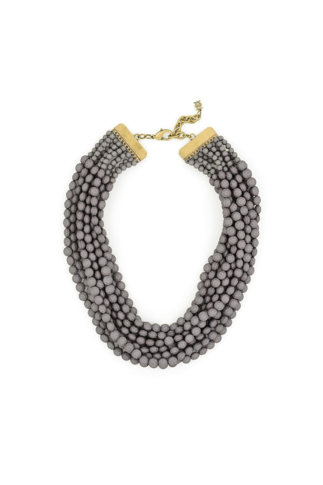 gemma collection grey bib necklace from dallas shoptiques