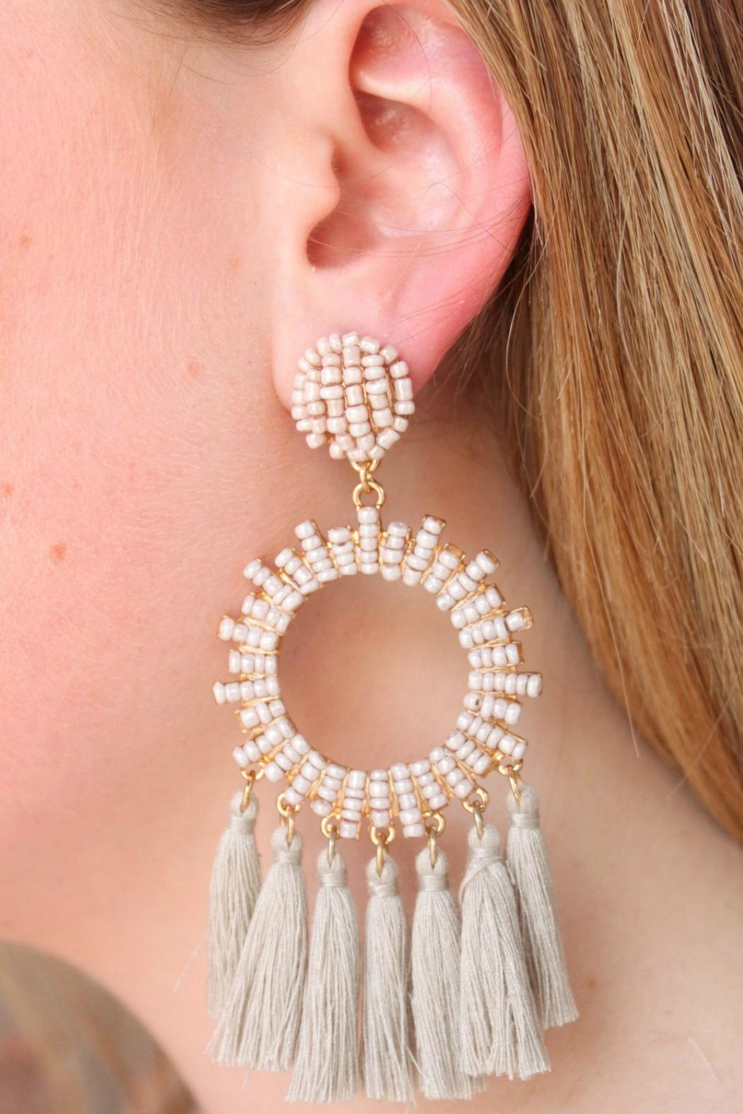 Gemma Collection Grey Statement Earrings - Main Image