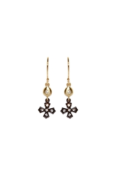 Gemma Collection Gunmetal Cross Earrings - Alternate List Image