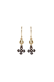 Gemma Collection Gunmetal Cross Earrings - Product Mini Image