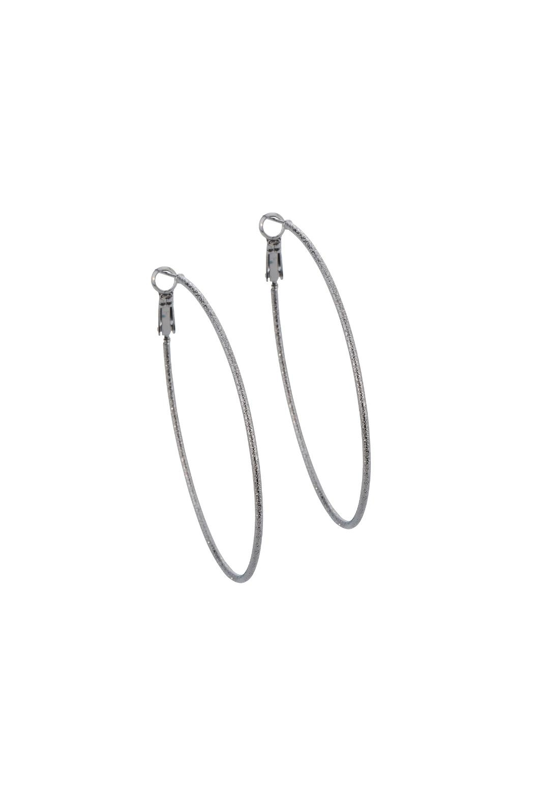 Gemma Collection Gunmetal Hoop Earrings Front Cropped Image