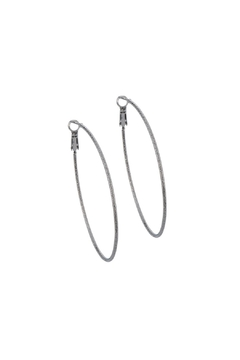 Gemma Collection Gunmetal Hoop Earrings - Product List Image