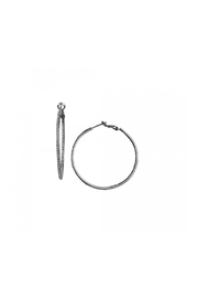 Gemma Collection Gunmetal Pave Hoops - Product Mini Image