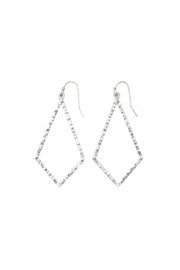 Gemma Collection Hammered Kite Earrings - Front cropped