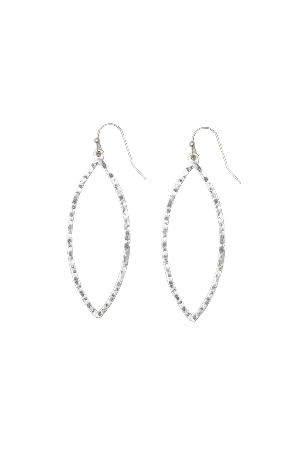 Gemma Collection Hammered Marquise Earrings - Main Image