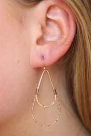 Gemma Collection Hammered Teardrop Earrings - Product Mini Image