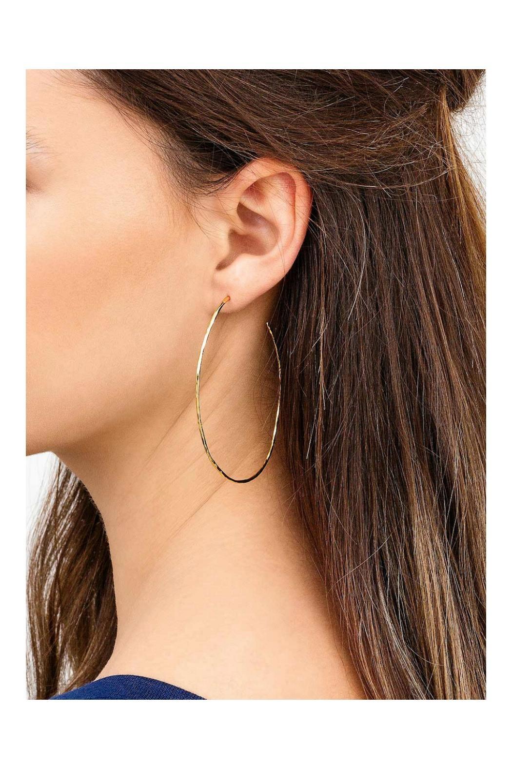 Gemma Collection Harbour Oval Hoops - Side Cropped Image