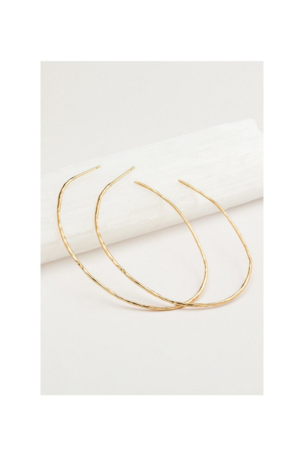 Gemma Collection Harbour Oval Hoops - Front Full Image