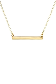 Gemma Collection Horizontal Bar Necklace - Product Mini Image