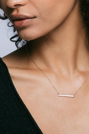 Gemma Collection Horizontal Bar Necklace - Front full body