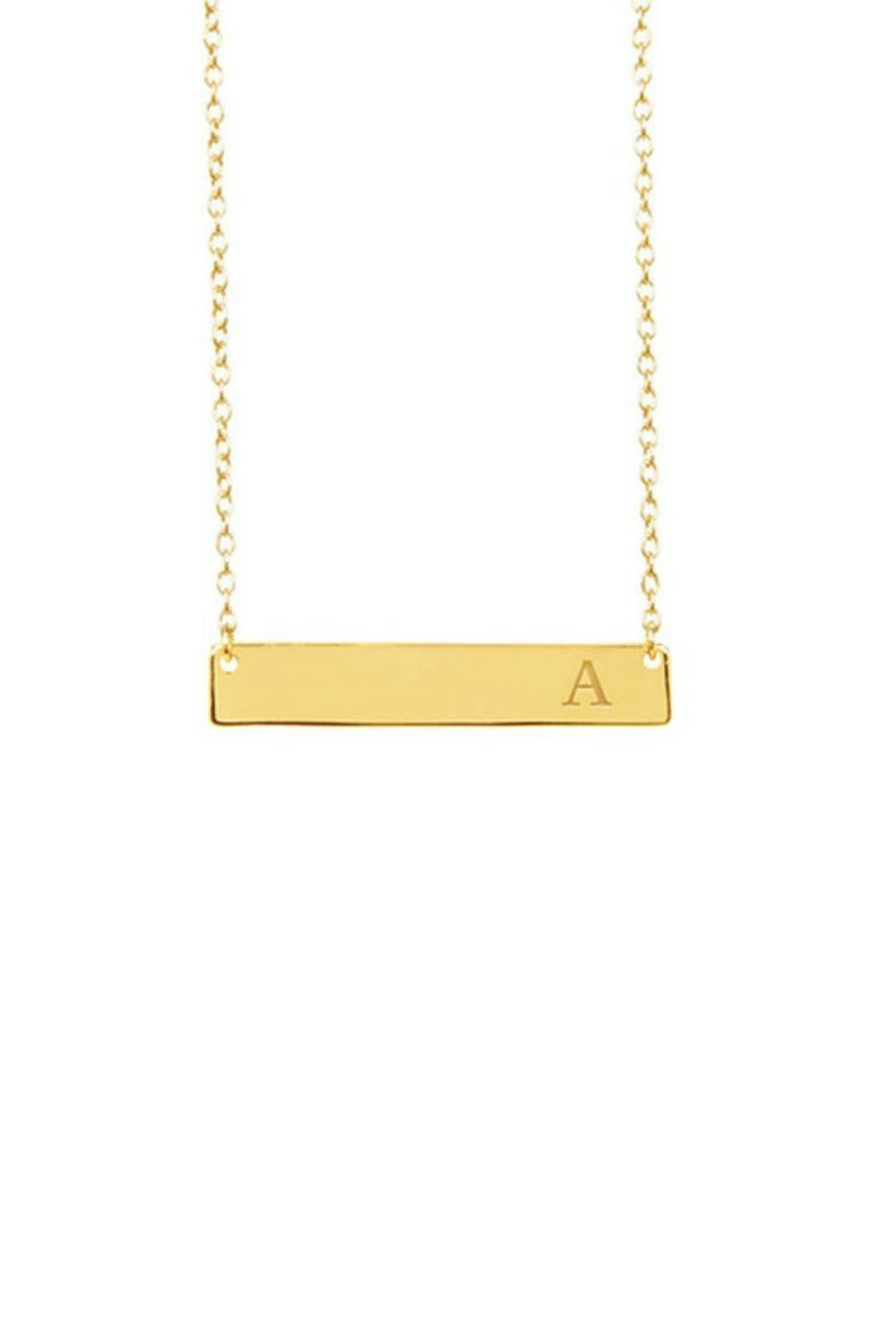 Gemma Collection Initial Bar Necklace - Main Image