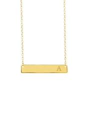 Gemma Collection Initial Bar Necklace - Front cropped