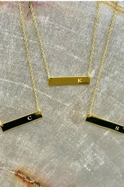 Gemma Collection Initial Bar Necklace - Front full body