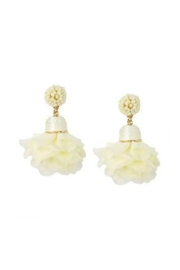 Gemma Collection Ivory Blossom Earrings - Product Mini Image