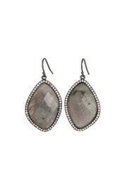 Gemma Collection Labradorite Gunmetal Earrings - Product Mini Image
