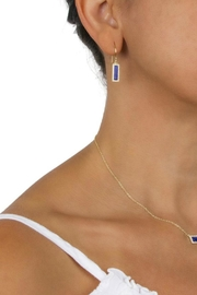 Gemma Collection Lapis Pave Earrings - Front full body